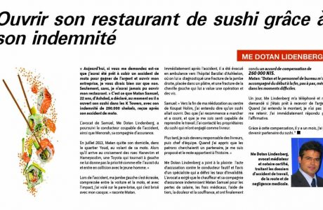 OUVRIR SON RESTAURANT DE SUSHI GRACE A SON INDEMNITE